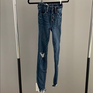 american eagle highwaisted jeans